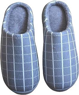 Oliked Hommes Chaussons Femme Pantoufles Molles Mousse Mémoire Maison Pantoufles Chaussures Chaudes d'hiver Pantoufles D'i...