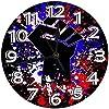 時計 壁掛け時計アナログクロックインテリア円形 静音 上げられた拳抗議政治印刷 掛置兼用フラットフェイス 家寝室居間 直径25cm 部屋装飾