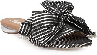 Chalk Studio - Black Metallic Bowtie - Sandals