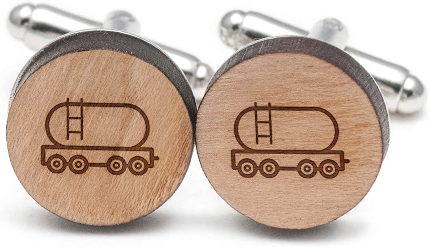 Cargo Train Cufflinks, Wood Cufflinks Hand Made in in in the USA 598315