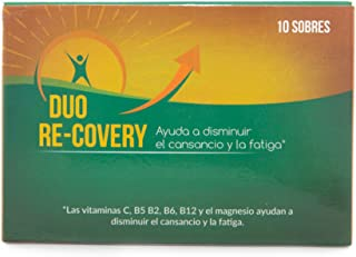 Duo Recovery (pack 10 sobres) -- RECUPERA LA ENERGÍA FÍSICA Y MENTAL Y AYUDA A PROTEGER EL HIGADO -- Con Vitaminas B12 B1 B2 B5 B6. Colina. Magnesio. Inositol. Vitamina C