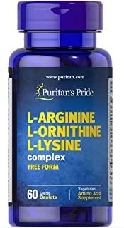 Puritan's Pride L-Arginine L-Ornithine L-Lysine-60 Caplets