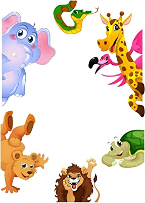 "Wallzone ""Colorfull Animals"" Large Vinyl Wallsticker(49 cm x 4.2 cm x 4.2 cm)"