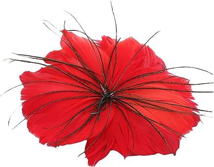 Feather Blume Kopfschmuck Rot