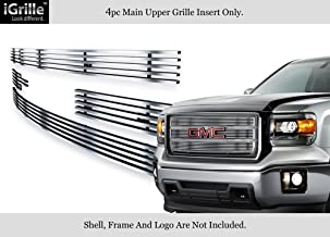 APS Compatible with 2014-2015 GMC Sierra 1500 Reg Model Stainless Chrome Billet Grille Insert N19-C27956G