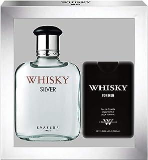 EVAFLORPARIS Whisky Silver – Estuche regalo Eau de Toilette 100 ml + perfume de viaje vaporizador para hombre 20 ml