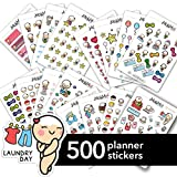 Starting Kit MIX PACK Large Kawaii Planner Stickers, Stickers for Life Planner, Erin Condren Stickers, Kikki Stickers, Plum Stickers, Filofax Stickers, Sport, Mood, Fitness, Motivational & Funcional