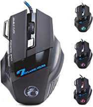 ESTONE X7 Optical Wired USB Gaming Mouse Colorful LED 5500 DPI 7 Button