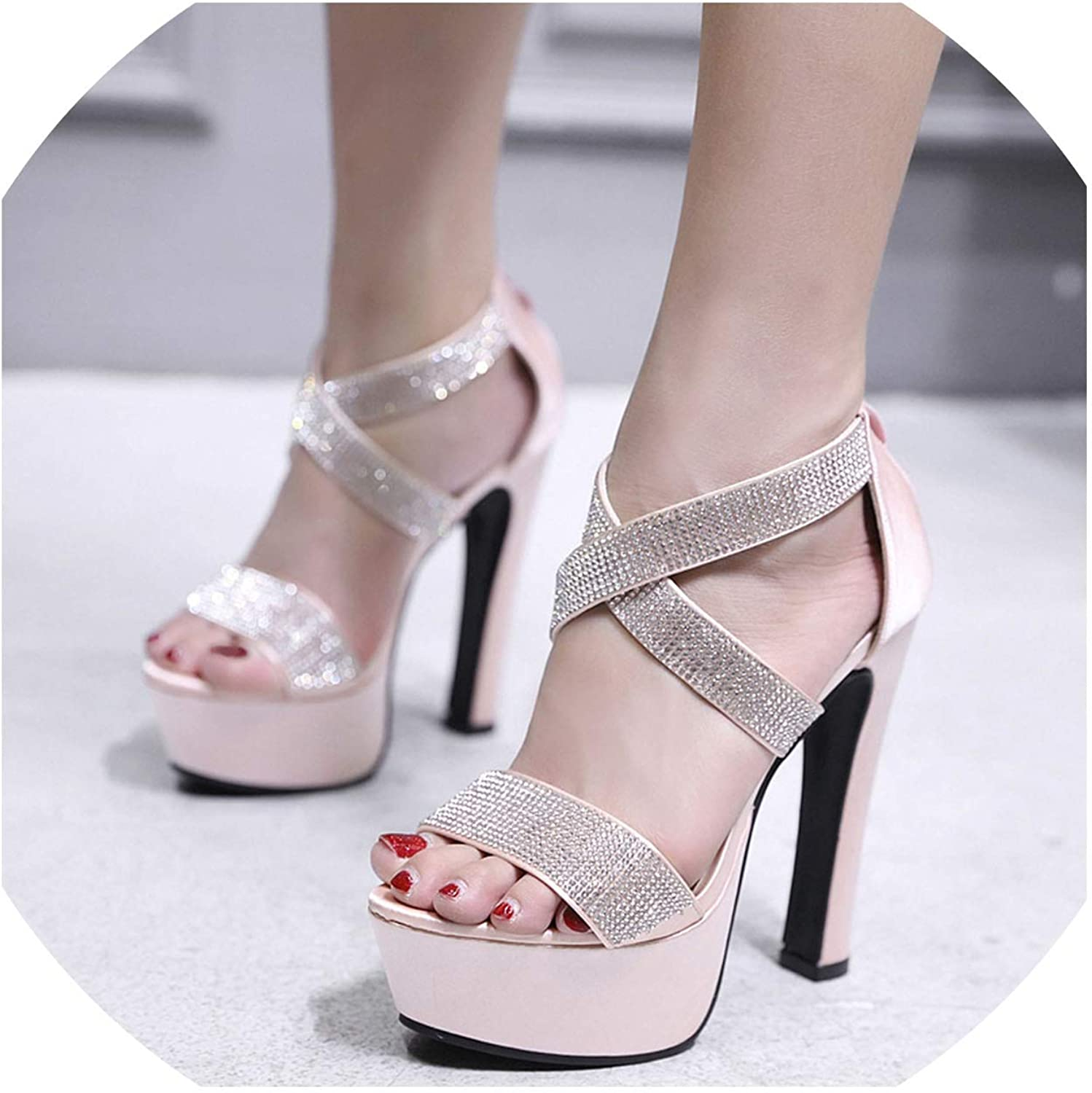Platform Sandals High Heel Summer Wedding shoes Women Gladiator Platform Sandal