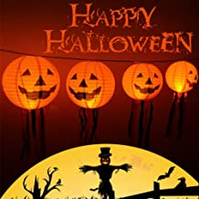 Mobestech 10Pcs Halloween Abóbora de Halloween Lanterna de Jack O Lanterna Com Borla Abóbora Lanterna De Papel Abóbora Pen...