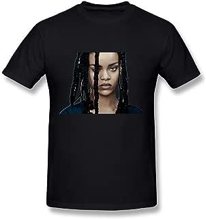 TAEYANG Men's 2016 Rihanna Album Cover Soft T-shirt Black