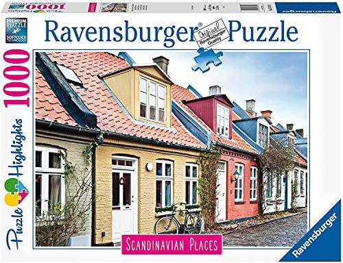 Puzzle - kompatibel mit Ravensburger Puzzle 16741 - Häuser in Aarhus, Dänemark 1000 Teile