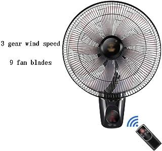 Ventilador de Pared Ventilador de Pared, Ventilador Industrial Silencioso de Control Remoto/Mecánico de 9 Palas para Uso Doméstico, Ajuste de Velocidad del Viento de 3 Velocidades