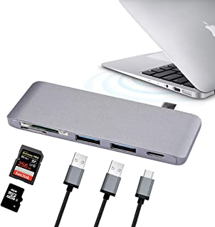 Network parts 5-ports (USB-C/Type-C & 2*USB 3.0 & Micro SD & SD) Card Reader & HUB, For iPhone & iPad & iPod & Most Androi...