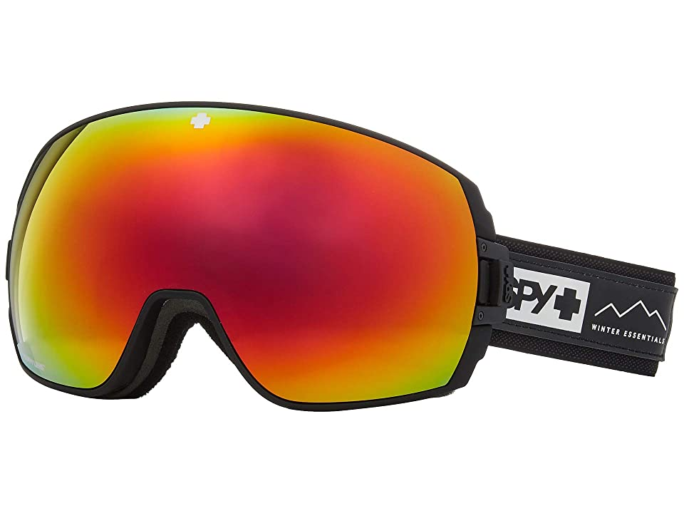 Spy Optic Legacy (Essential Black Happy Gray Green w/ Red Spectra+Happy Yellow) Snow Goggles