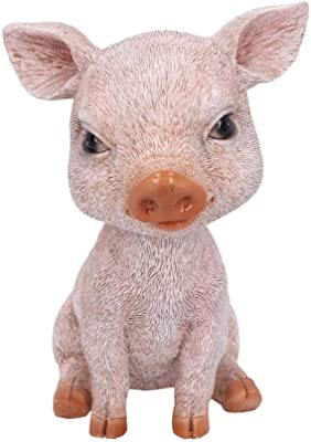Nemesis Now Bob Trotter Pink Pig Bobble Head Figurine, Polyresin, One Size