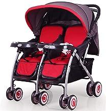 Not a brand Twin Baby Stroller Puede Sentarse reclinado Segundo Coche Doble Coche Doble Dragon Cochecito de bebé Carro de bebé
