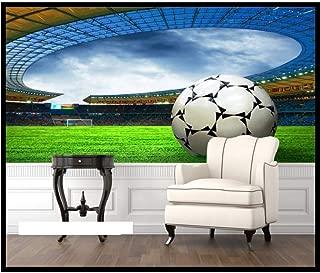 Pbldb 5D Mural 3D Wallpaper Sports Football Murals for Sofa Tv Background 3D Wall Photo Murals Soccer Murals Wall Paper-250X175Cm