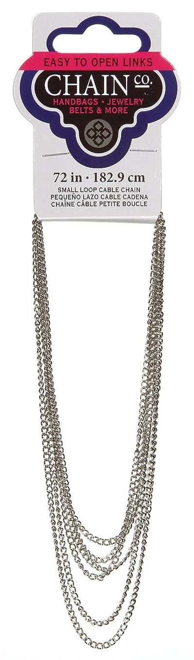 DARICE 1999-3672 72-Inch Loop Cable Chain, Small, Imitation Rhodium