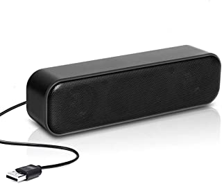 Computer Speaker, USB Powered Speaker, Portable Computer Sound Bar, WAMBORY Mini Stereo Wired Desktop Speakers, Bar-Plug a...