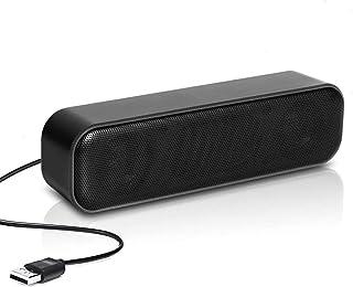 Computer Speaker, USB Powered Speaker, Portable Computer Sound Bar, WAMBORY Mini Stereo Wired Desktop Speakers, Bar-Plug a...