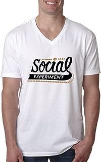 Men's Chance The Rapper Social Experiment V-neck T-shirt White