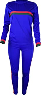 Women Sweatsuit, 2021 New Casual 2 Piece Outfits Long Sleeve Crop Top Shirt Stacked Skinny Pants Tracksuit Set Workout Set...