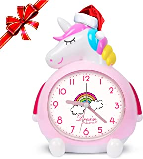 Unicorn Alarm Clock for Kids Wake Up Night with Loud Music Alarm, Ideal Gifts for Kids Party Supplies Bedroom Decoration