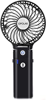OPOLAR Portable Battery Operated Handheld Personal Desk Fan with 5-20 Hours Working Time/5200mA Battery,3 Setting, Strong ...