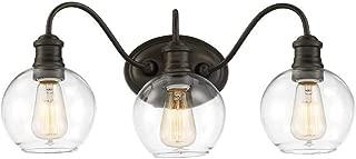 Quoizel Soho 3-Light 9.5-in Bronze Globe Vanity Light