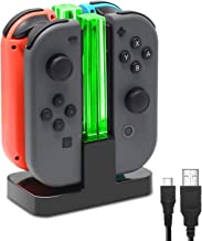 FastSnail Joy-Con Charging Dock Compatible with Nintendo Switch with Lamppost LED Indication, Joy-Cons Charger Stand Station with Charging Cable