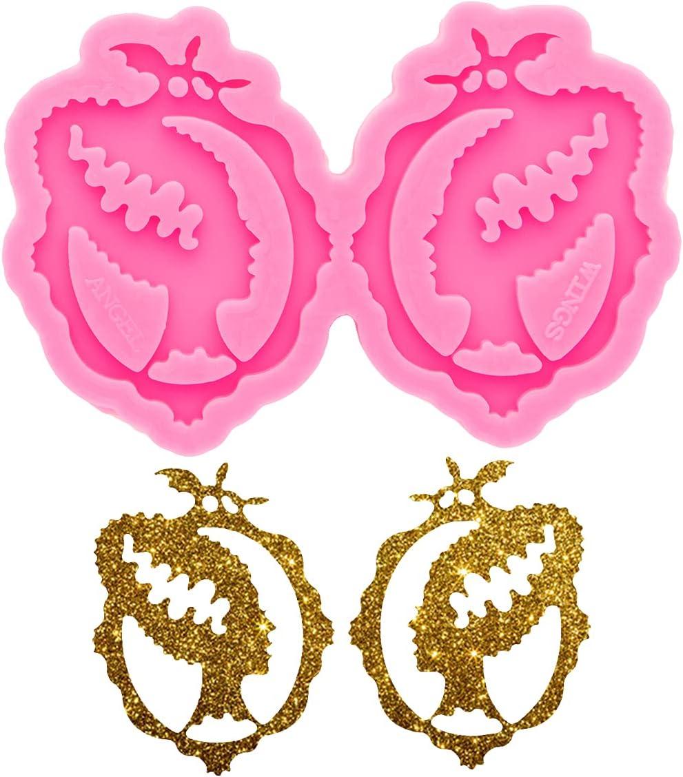 Beautiful Woman Ranking TOP6 Head Earrings Resin free Keychain Molds DIY