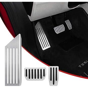 A Set of 2 Non-Slip Accelerator Brake Pedal Cover for Tesla Model 3 EVFIT Model 3 Performance Pedal Pads