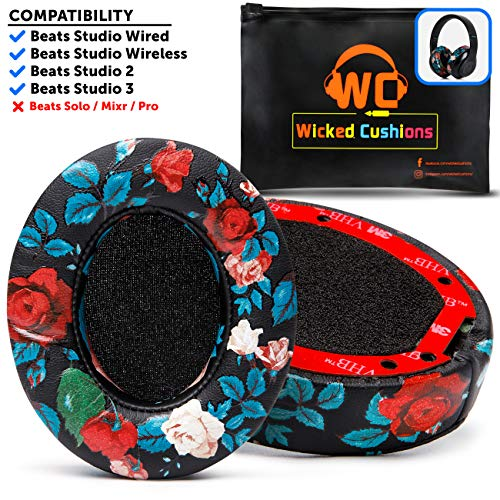 Upgraded Beats Replacement Ear Pads by Wicked Cushions - Compatible with Studio 2.0 Wired/Wireless and Studio 3 Over Ear Headphones by Dr. Dre ONLY (Does NOT FIT Solo) | Team USA