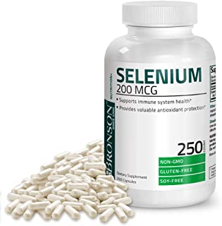 Selenium 200 Mcg for Thyroid, Prostate and Heart Health - Selenium Amino Acid Complex - Essential Trace Mineral with Superior Absorption, Non GMO, Gluten Free, Soy Free, 250 Capsules