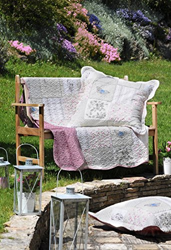 Lovely Casa Anela Boutis avec 2 Taies, Polyester, Rose, 240 x 220 cm