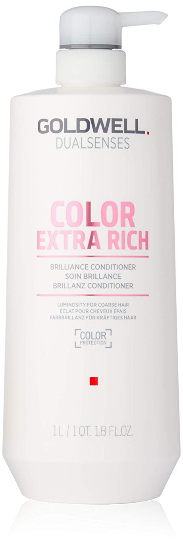 スケッチ符号こどもの宮殿ゴールドウェル Dual Senses Color Extra Rich Brilliance Conditioner (Luminosity For Coarse Hair) 1000ml