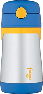 Thermos FOOGO Vacuum Insulated 10 Ounce Straw Bottle, Blue
