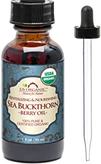 US Organic Sea Buckthorn Berry (Fruit) Oil, USDA Certified Organic,100% Pure & Natural, Supercritical CO2 extracted, Virgi...