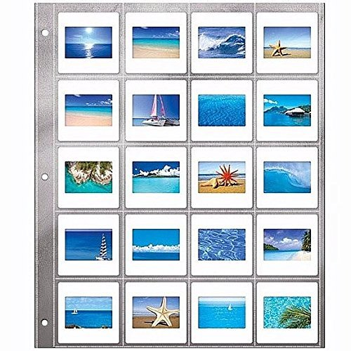 35mm Slide Archival Storage Pages by Lineco - 2x2