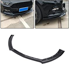 JC SPORTLINE fits for Ford Mustang Coupe Convertible 2-Door 2015-2017 Carbon Fiber Front Lip Chin Spoiler CF Bumper Cover Protector (Non GT350) (Carbon Fiber)