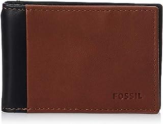 Fossil Men's Ward Leather RFID Blocking Money Clip Bifold Wallet