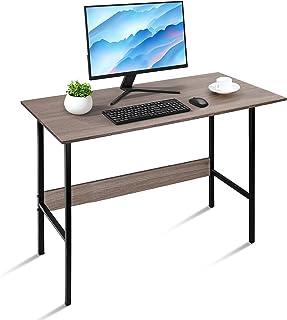 Bureau d'Ordinateur Petit, Table Informatique, Table de Travail Cadre en Acier avec Protection des Bords, Bureau Étudiant ...
