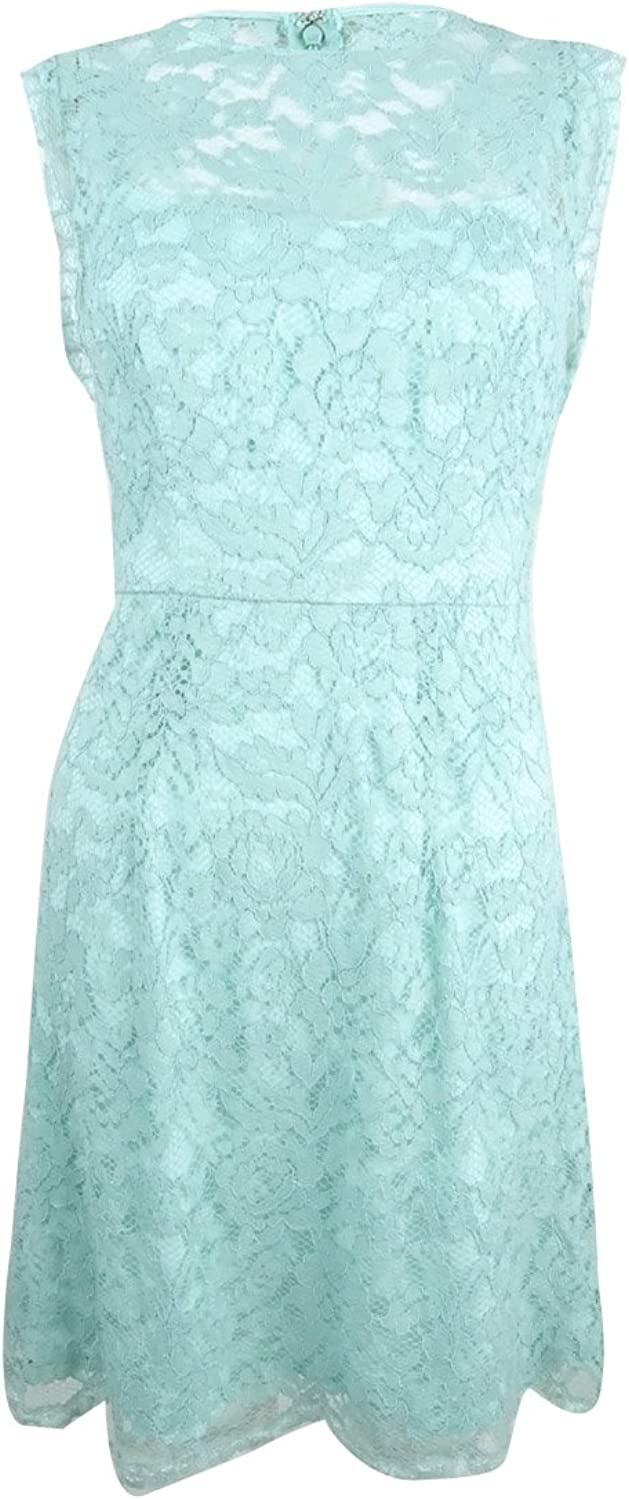 Betsey Johnson Womens Lace with Scalloped Sleeves Sheath Dress Dress