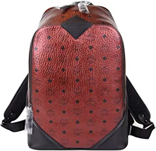 MCM Unisex Scooter Red Coated Canvas Metallic Small Backpack MMK8SFO02TL001