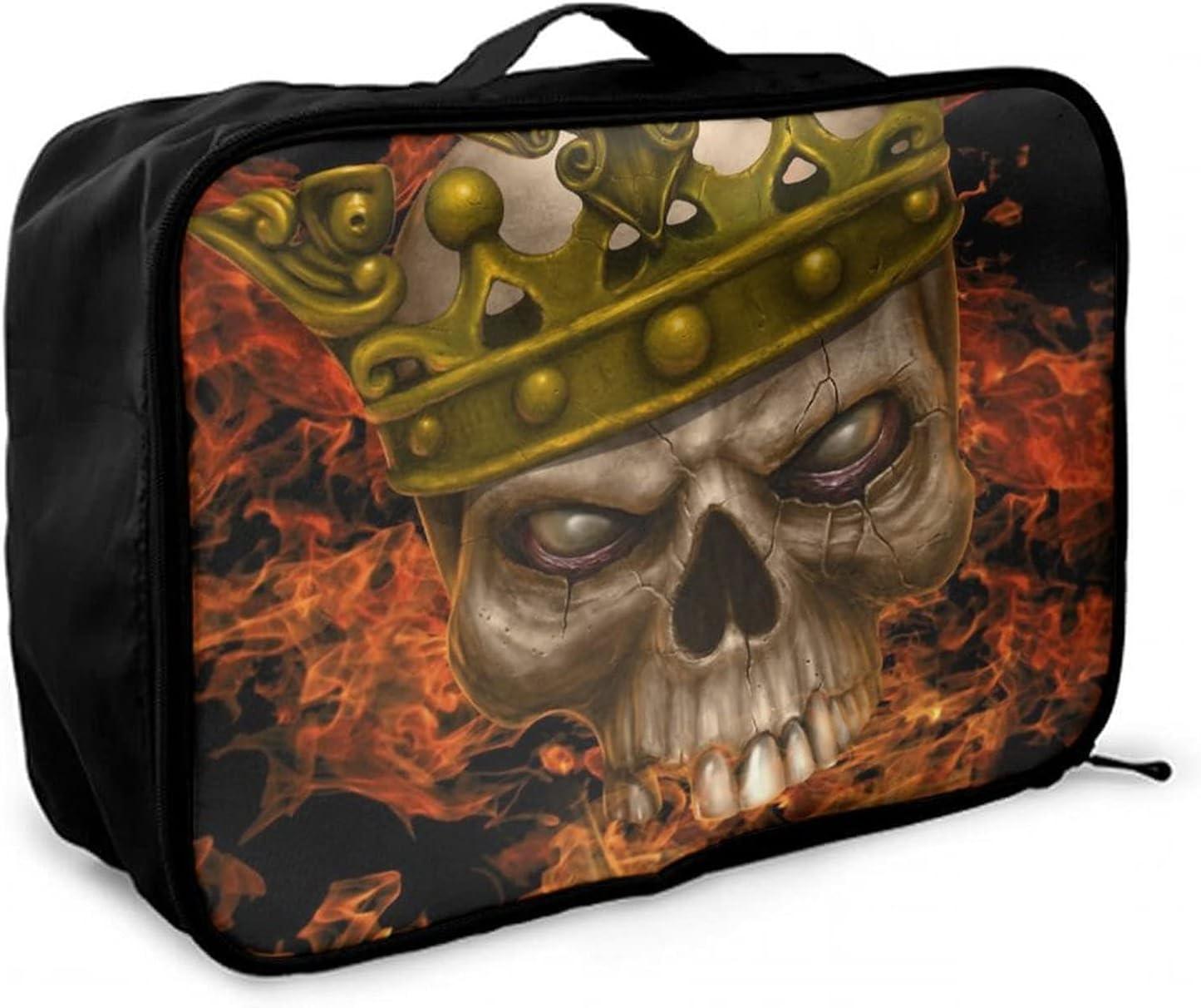 NiYoung Travel Over item handling Max 50% OFF Duffle Bag Skull Waterpro King Fire Weekender