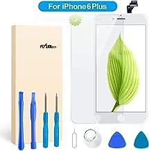 """FLYLINKTECH Pantalla Táctil LCD Reemplazo para iPhone 6 Plus Blanco 5.5"""" Contiene Herramientas + película de Vidrio Templado - Blanco"""