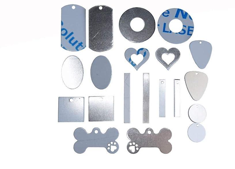 RMP Stamping Blank Multi Pack Aluminum 0.063 Inch (14 Gauge) - 50 Pack (5 of Each Shape)