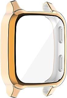 brightsen Fit Voor Garmin Venu SQ Protector Case Cover, Sport Horloge Case TPU Bumper Screen Protector Hollow-out Bescherm...