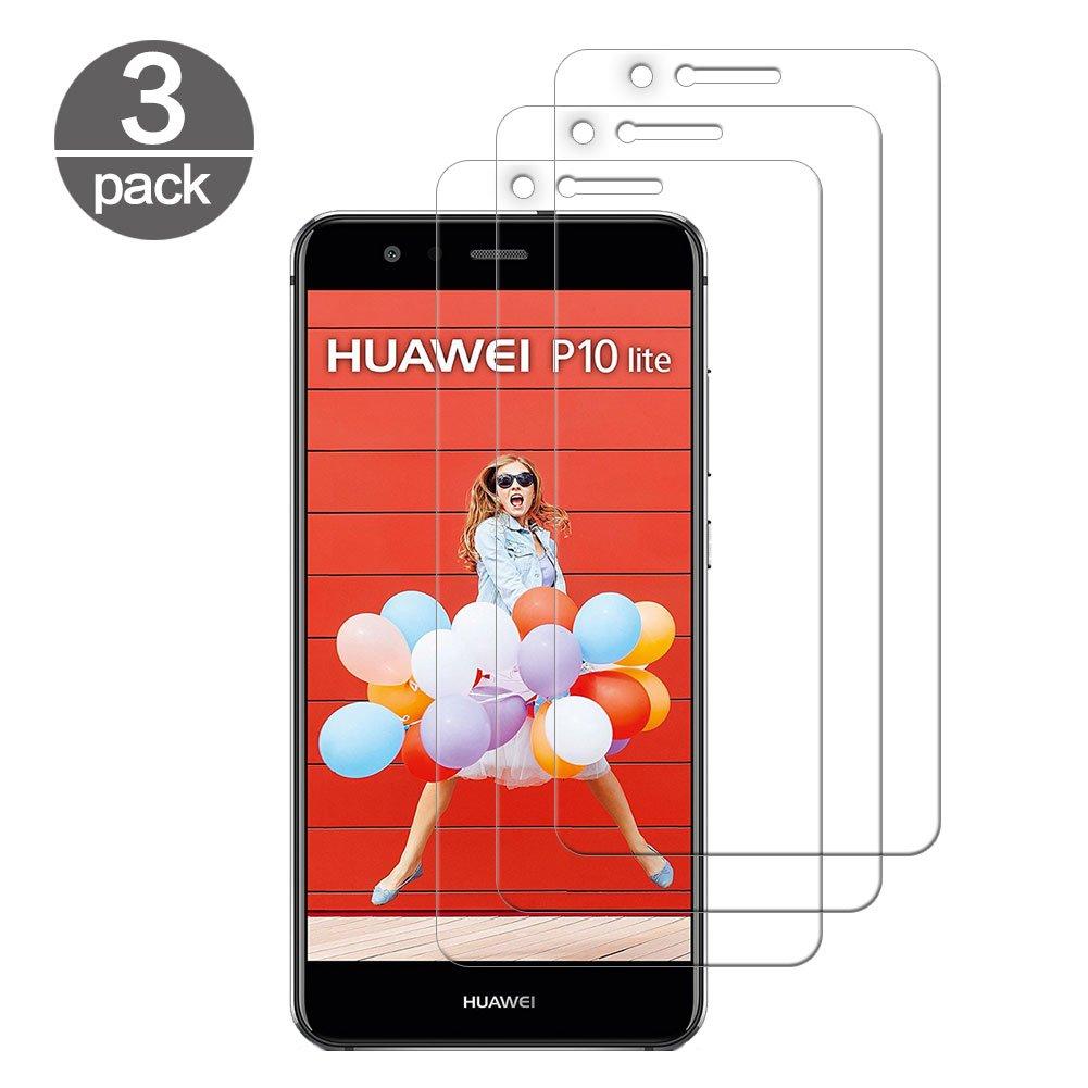 3 x Cristal Templado Huawei P10 Lite Protector Pantalla Screen ...